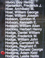 Memorial– Flight Sergeant Adam Kidd Hodgins is also commemorated on the Bomber Command Memorial Wall in Nanton, AB … photo courtesy of Marg Liessens