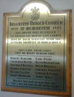 War Memorial– Britannia United Church