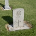 Photo 3 of Grave Marker– View of the grave of J-9477 Pilot Officer Albert Hoffman, buried in the Ritzville Memorial Cemetery  Riztville Washington U.S.A.  Who served with the Royal Canadian Air Force and died May 30th 1942