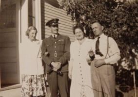 Photo of Harry Curd Bennett– Harry and his wife Jeanne and his parents Annie and George. Submitted for the project, Operation Picture Me