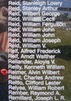 Memorial– Flight Sergeant Alvin Wilbert Reimer is also commemorated on the Bomber Command Memorial Wall in Nanton, AB … photo courtesy of Marg Liessens