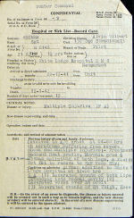 Sgt Reimers final medical– Alvin died as the result of injuries sustained in a crash at a base in England.  He was flying a Whitley at the time.  These two pages detail the last two weeks of his life.  They unfortunately did not notice that his lung was injured in the crash, but concentrated on his legs and facial wounds.  Source: Library & Archives Canada via R. Whitehouse