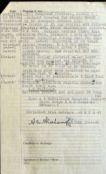 Sgt Reimers final medical pg2– Source: Library & Archives Canada via R. Whitehouse