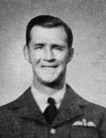 Photo of Frederick Higgins– Higgins, Frederick Alexander - Flight Sergeant. Born 23rd August, 1918, at Niagara Falls, Ont. Educated at Stamford Collegiate Institute. Entered the service of the Bank 2nd May, 1938. Served at Niagara Falls Centre, Fort Erie and Thorold, Ont. Enlisted 31st August, 1940, from Niagara Falls Centre in R.C.A.F. Sergeant Pilot 22nd April, 1941; Flight Sergeant 1st November, 1941. Trained at St. Thomas, London, and Dunnville, Ont. Overseas in April, 1941. Attached R.A.F. Served with 411 Squadron on coastal patrol, and later with 403 (Wolf) Squadron, flying Spitfire fighters. Took part in many operational flights across English Channel. Killed in action over own base at Martlesham Heath, Suffolk, 8th November, 1941. Buried in Ipawich Cemetery, Suffolk, 12th November, with full military honours. Flight Sergeant Higgins was a champion track runner, and gold medallist at the Niagara Falls musical festivals.  From a memorial booklet prepared by the Canadian Bank of Commerce.