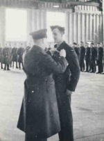 Photo of JOHN WILBERT EDMUND HARTEN– Webb Harten receiving his wings, St. Hubert, Quebec, November 21, 1941. Photo provided by Phil Miller