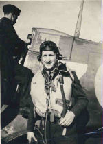 Photo of JOHN WILBERT EDMUND HARTEN– Webb Harten with his aircraft. Photo provided by Phil Miller