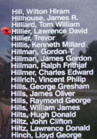 Memorial– Flight Lieutenant Lawrence David Hillier is also commemorated on the Bomber Command Memorial Wall in Nanton, AB … photo courtesy of Marg Liessens