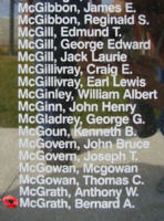 Memorial– Flight Sergeant Bernard Arthur McGrath is also commemorated on the Bomber Command Memorial Wall in Nanton, AB … photo courtesy of Marg Liessens