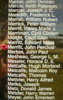 Memorial– Pilot Officer John Percival Merritt is also commemorated on the Bomber Command Memorial Wall in Nanton, AB … photo courtesy of Marg Liessens