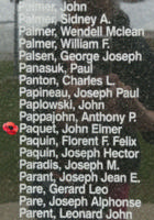 Memorial– Flight Sergeant John Elmer Paquet is also commemorated on the Bomber Command Memorial Wall in Nanton, AB … photo courtesy of Marg Liessens
