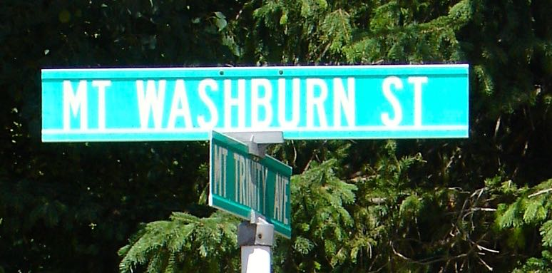 Street sign in Fernie.