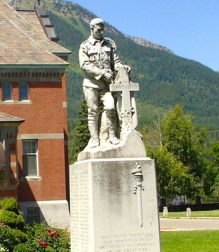 Cenotaph– Fernie, British Columbia.