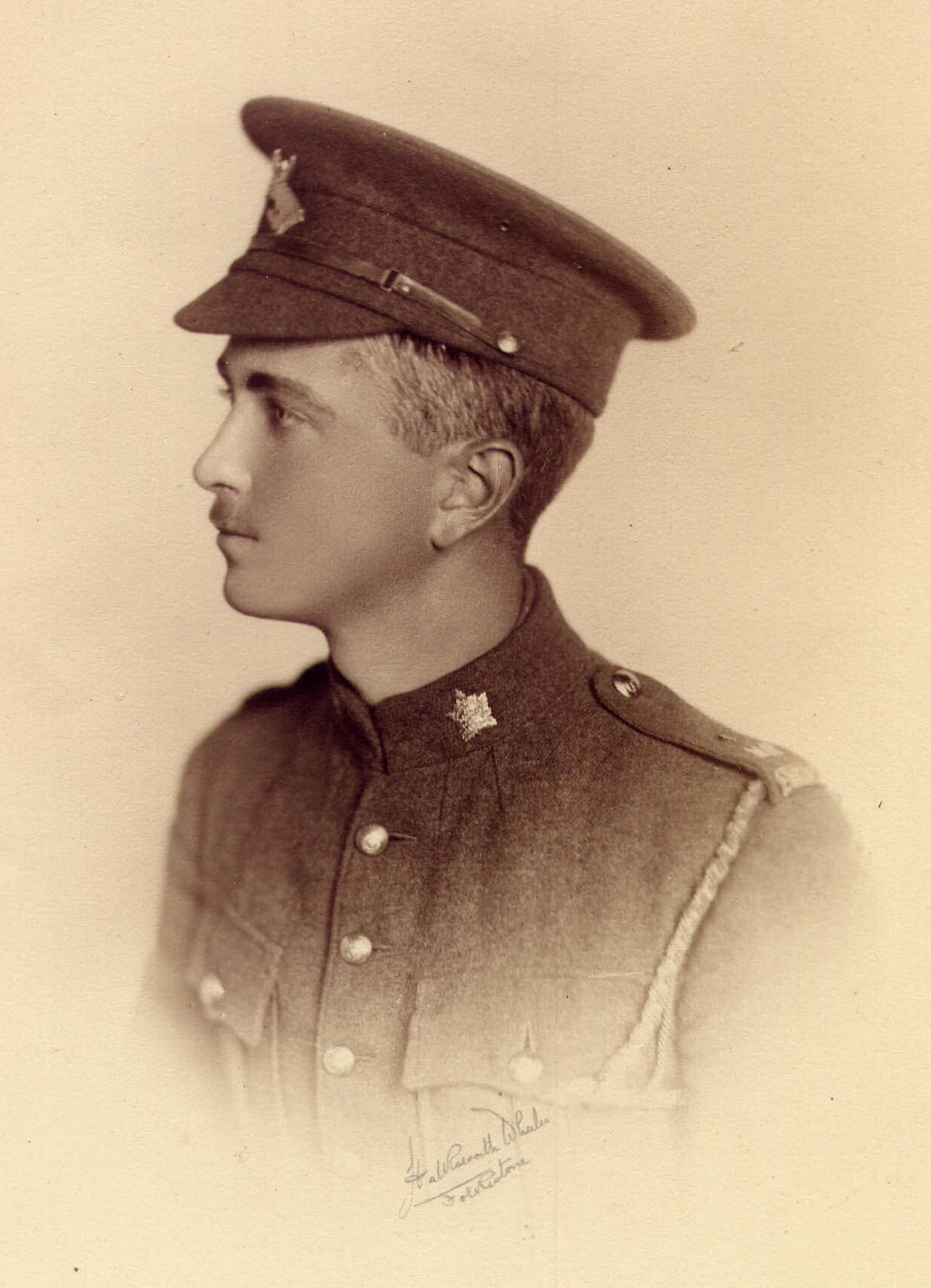 Photo of Roderick Mackenzie Ferguson– Roderick Mackenzie Ferguson enlisted 1914 4th Canadian Mounted Rifles, served with them till early 1916 when commissioned into Gordon Highlanders