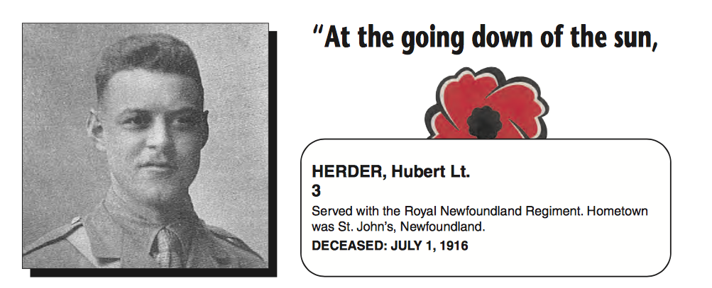 """Memorial– In memory of the men and women from Newfoundland who went away to war and did not come home. From the Newfoundland Legion magazine """"Lest We Forget"""". Submitted for the project, Operation Picture Me"""