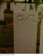 "Gravestone– ""Gravestone of Silas at the 'Y' Ravine Cemetery in France"""