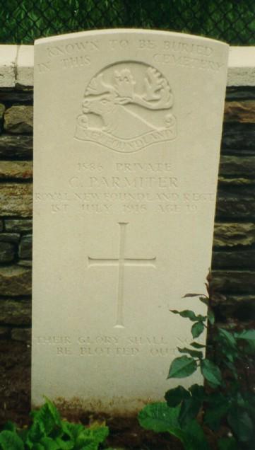 Cecil Parmiter's Tombstone