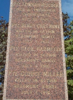 Kelligrew Monument 2– A closer view of the monument in Kelligrew's where Cecil is  commemorated.