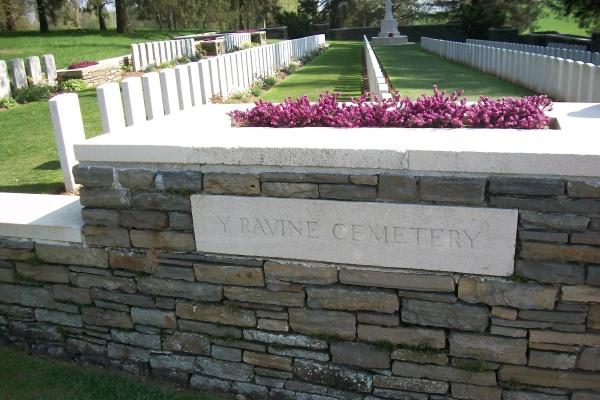 Entrance– Y Ravine Cemetery - April 2017 … photo courtesy of Marg Liessens