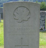 Grave Marker– This is a photo of John Benson's CWGC headstone at his grave in St Cuthbert Churchyard Lorton Cumbria