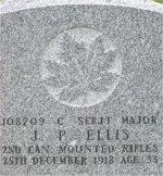 Gravemarker– Gravestone of James Paterson ELLIS in Kirkcaldy (Bennochy Cemetery)Fifeshire, Scotland.
