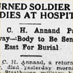 Press Clipping– source: Morning Bulletin (Edmonton); May 4, 1917, page 3