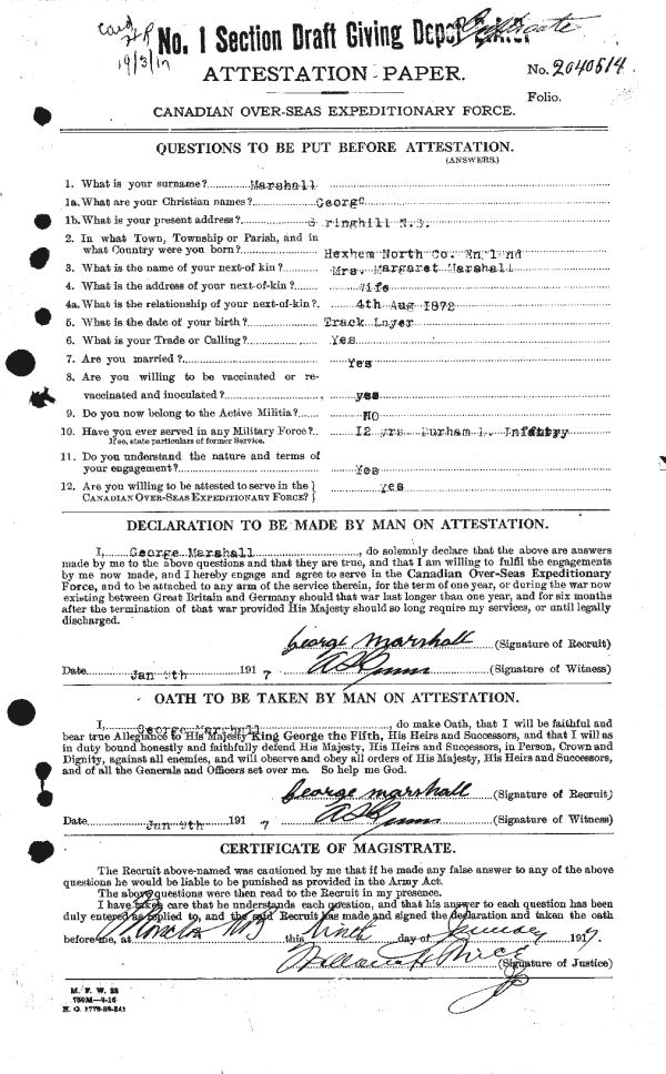 Attestation papers