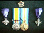 Medals– Medals and mother's crosses to the mother and wife of Sjt. R.N. Heffler