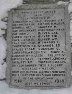 Inscription– Cenotaph at Kettle Valley, British Columbia