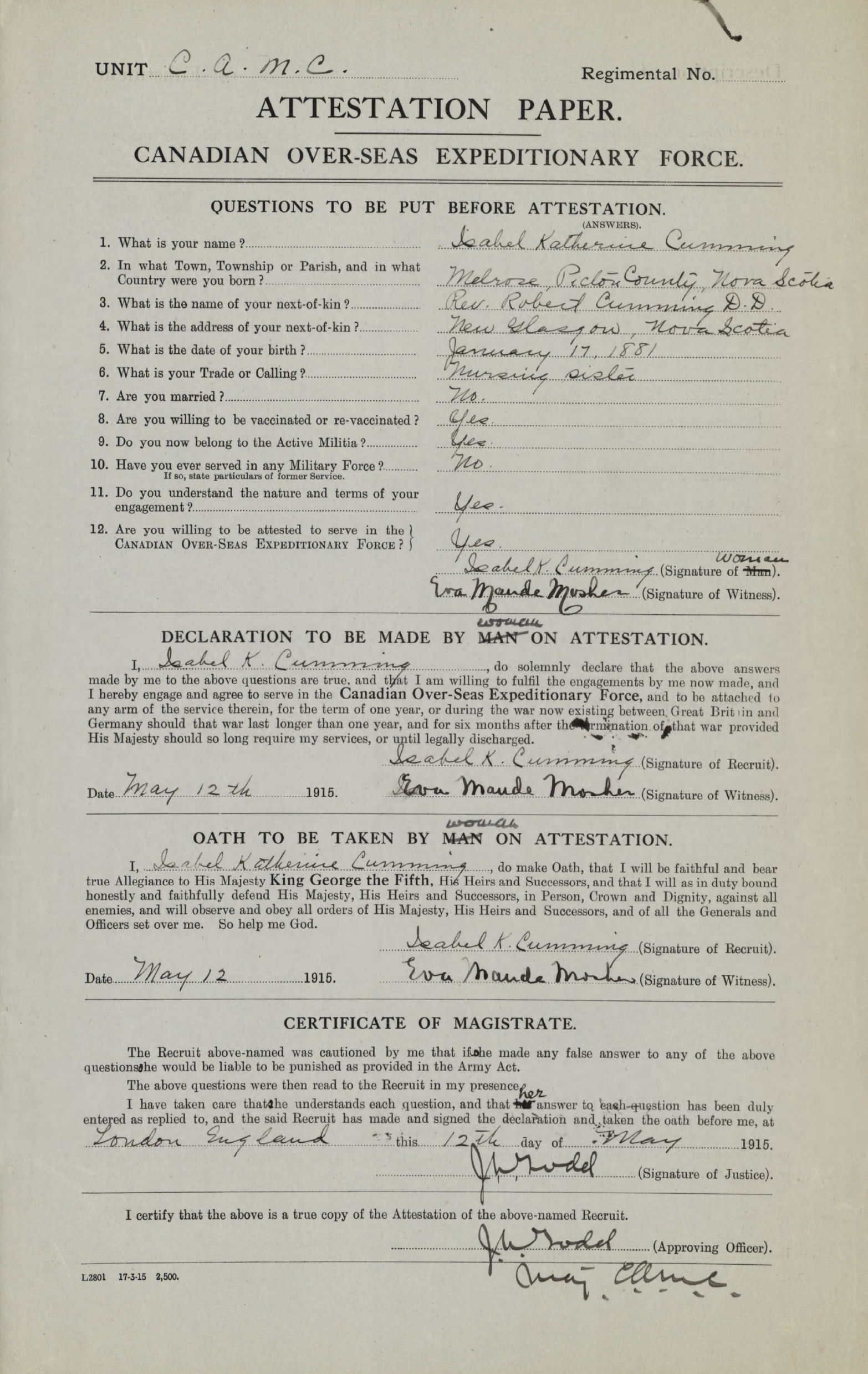 Attestation Paper– Attestation Paper  