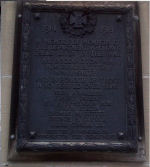 Memorial Plaque– Plaque attached to Fredericton's original Fire Station on King Street across from Kings Place to memorialize and commemorate the members who served during World War 1.