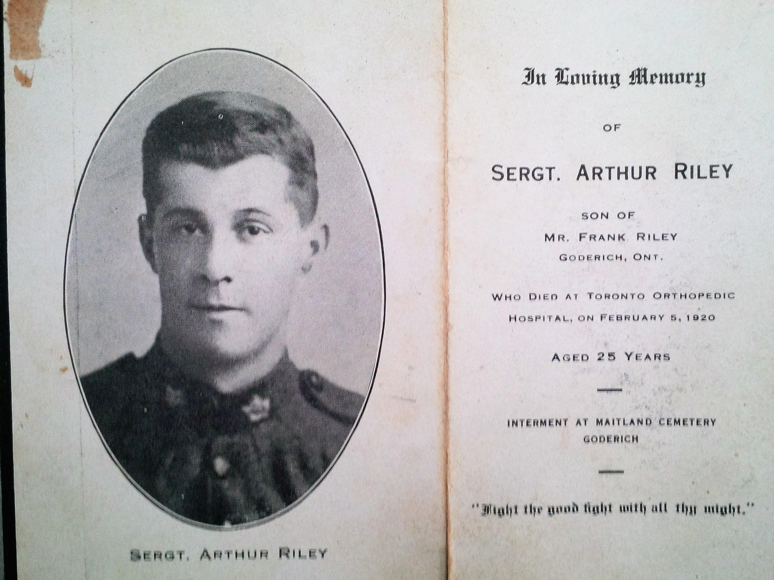 Photo of Arthur Riley