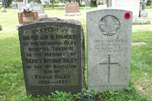 Family gravemarker– He is also mentioned on the family marker. Photo courtesy of Marg Liessens