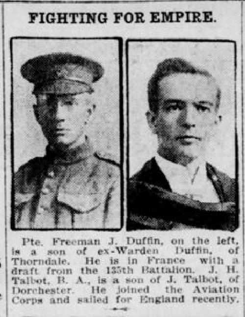 Newspaper clipping– From the  London Free Press Feb. 1917. Submitted for the project Operation Picture Me