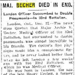 """Newspaper Clipping– Toronto Star """"Pages of the Past"""" online 1915 Dec 27 p5"""