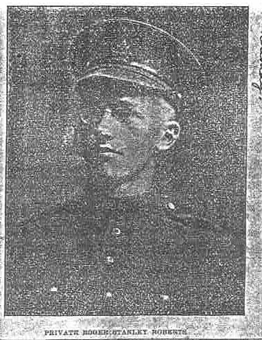 Newspaper clipping– Private Roger Stanley Roberts Photo