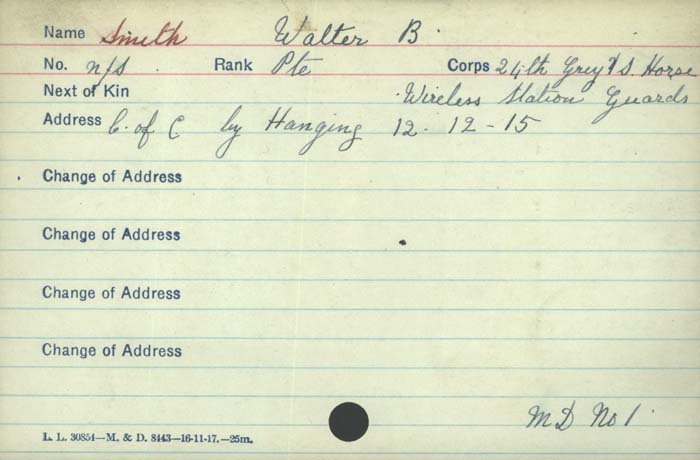 Document– Private Walter Smith Canadian Infantry,Quebec Reg,24th Bn C & C of hanging 24th Regiment Grey's Horse Age 61 http://www.collectionscanada.gc.ca/microform-digitization/006003-119.01-e.php?q2=36&q3=2924&sqn=1199&tt=1292&PHPSESSID=9nco8tsiafja5rjtk5b3hge9r7