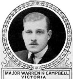 Photo of Warren Campbell– From: The Varsity Magazine Supplement published by The Students Administrative Council, University of Toronto 1918.  