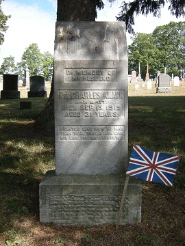 Memorial– Headstone of Private Charles Martin Knack. Located Cambridge (Preston Public) Cemetery, Ontario, Canada - plot Lot 15. Blk. A.  This image is copyright 2012 by M Norton. It may be used, with permission, for any non-profit purpose.