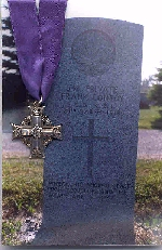 Gravestone for Frank Conroy– Headstone w/Memorial Cross.