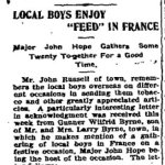 Newspaper Clipping– From the Perth Courier for 26 October 1917.