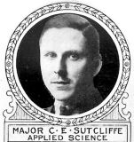 Photo of Charles Sutcliffe– From: The Varsity Magazine Supplement Fourth Edition 1918 published by The Students Administrative Council, University of Toronto.   Submitted for the Soldiers' Tower Committee, University of Toronto, by Operation Picture Me.