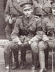 Photo of Charles Elliott Sutcliffe– Captain (and then Major) Charles Elliott Sutcliffe in Ottawa, 77th Battalion, CEF, before sailing to England on SS Missanabi, June 6, 1916. Joined Royal Flying Corps in August 1916 - attached to 54th Squadron in May, 1917 and shot down in June, 1917 near Epinoy, France.  The Germans dropped a message onto British Lines saying he was dead.