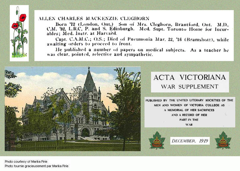 Acta Victoriana War Supplement