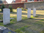 Cemetery– Sylvester is buried with three of his Canadian comrades in Basingstoke, England.  His grave is third from the left in this picture.