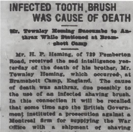 Newspaper clipping– From the Daily Colonist of March 2, 1917. Image taken from web address of http://archive.org/stream/dailycolonist59y70uvic#page/n0/mode/1up