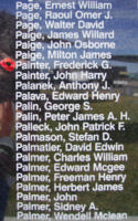 Memorial– Flight Sergeant Frederick George Painter is also commemorated on the Bomber Command Memorial Wall in Nanton, AB … photo courtesy of Marg Liessens