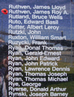 Memorial– Sergeant James Roy Addison Ruthven is also commemorated on the Bomber Command Memorial Wall in Nanton, AB … photo courtesy of Marg Liessens