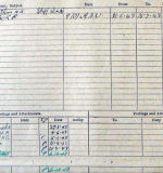 Document– This is the back of Scott's Form 373.  It contains most of the information seen on his Record Card with one exception.  he last two entries show that he was SOS (Struck Off Strength) of 432 Sqdn and TOS (Taken On Strength) of RCAF Non-Effective Unit.  All missing crew were transferred from their active unit to this inactive  unit until they were released from it on final burial or return to duty.  This allowed the RAF and RCAF to keep track of all of their missing men.  All of their records were kept in one place until their fate was finalized.   Source: Library & Archives Canada via R. Whitehouse