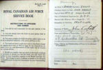 Documents– Scott's paybook, ID Card and Sgt. Air Gunner photos as the they were found in his file.  Source: Library & Archives Canada via R. Whitehouse
