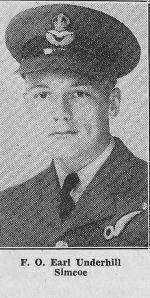 Photo of Earl John Underhill– In Memory of the men from Norfolk County who gave their lives in World War II.  Submitted for the project, Operation: Picture Me.